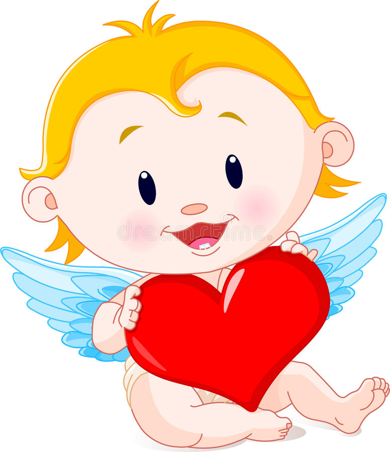 De Engel van de Cupido stock illustratie