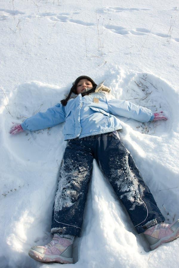 De engel van de sneeuw royalty-vrije stock foto's
