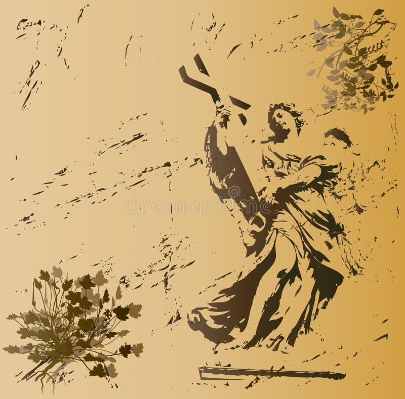 De Engel van Grunge vector illustratie