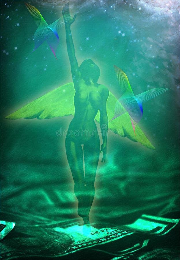 De Engel van het geld vector illustratie