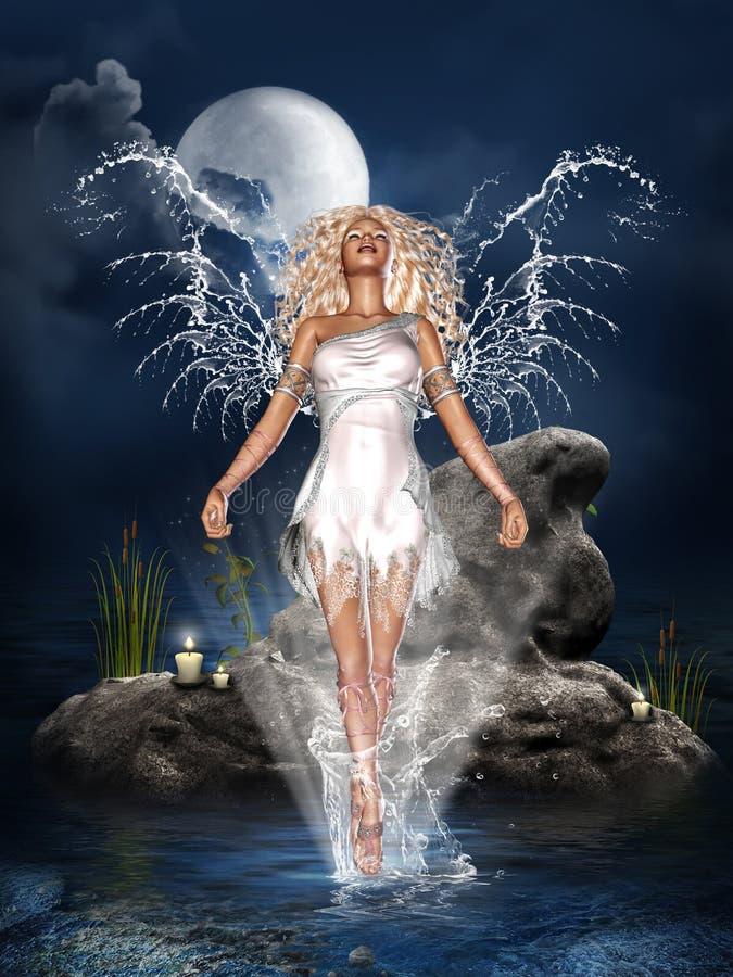 De Engel van het water royalty-vrije illustratie