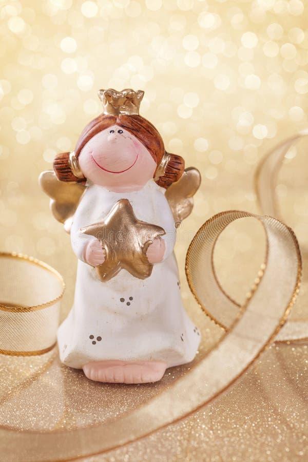 De engel van Kerstmis stock fotografie