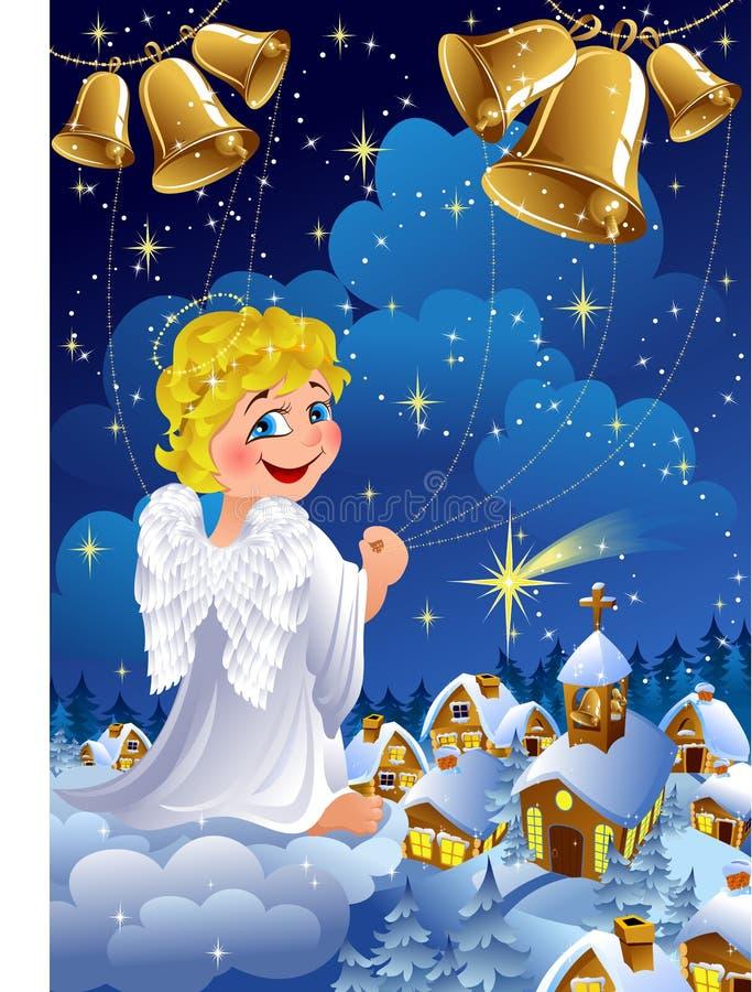 De engel van Kerstmis royalty-vrije illustratie