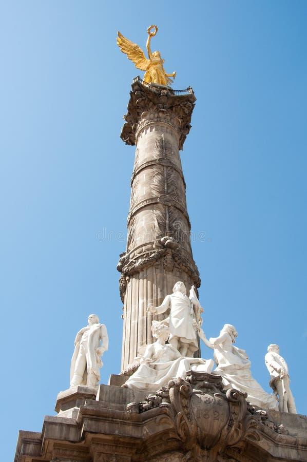 De engel van Onafhankelijkheid, Mexico-City stock foto