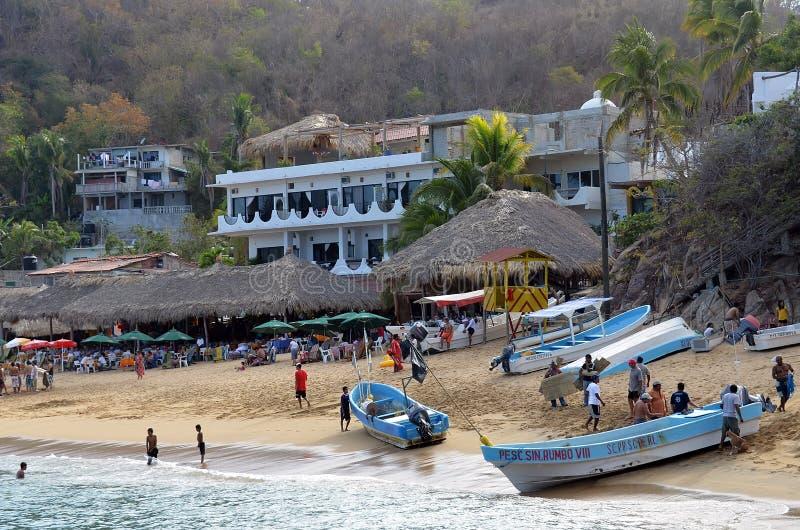De Mexicaanse Toevlucht van het Strand stock afbeeldingen