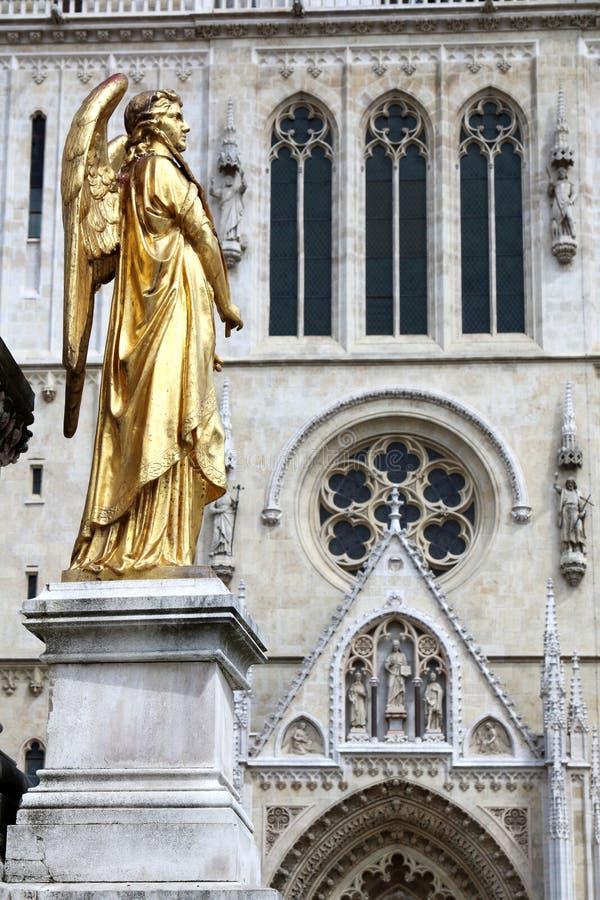 De Engel van Zagreb royalty-vrije stock afbeeldingen