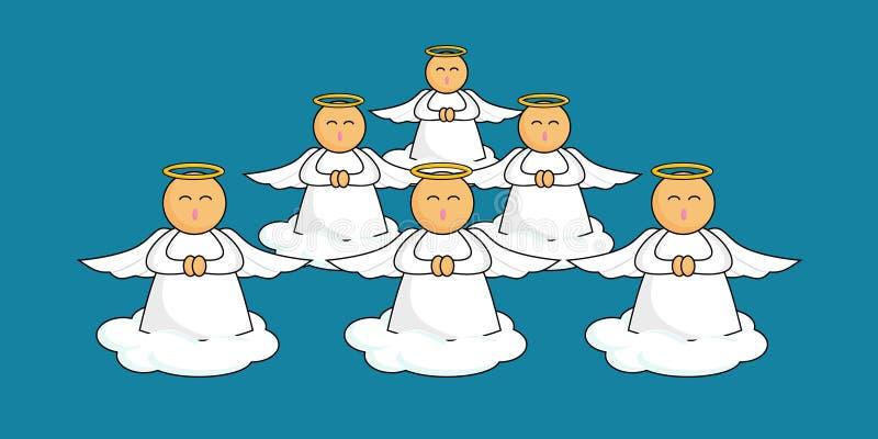 De Engelen van het beeldverhaal stock illustratie