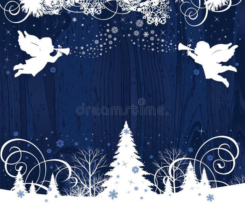 De Engelen van Kerstmis. vector illustratie