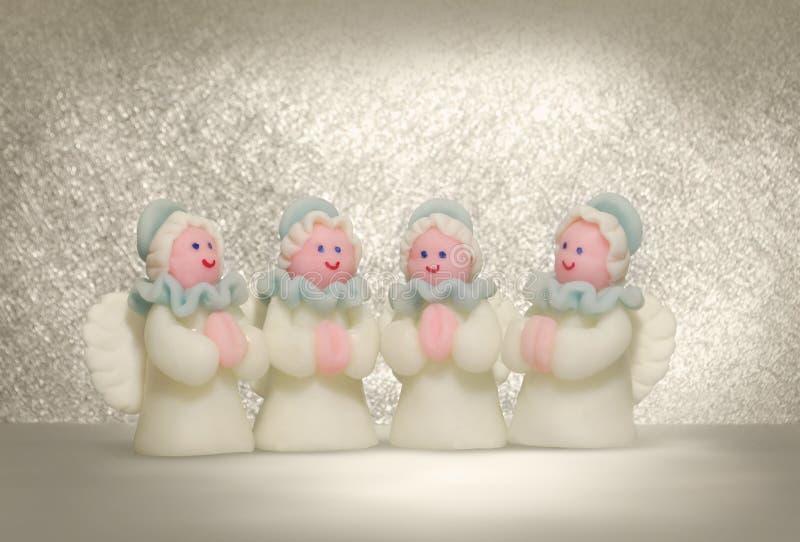 De engelen van Kerstmis royalty-vrije stock foto's