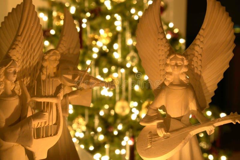 De Engelen van Kerstmis stock foto's