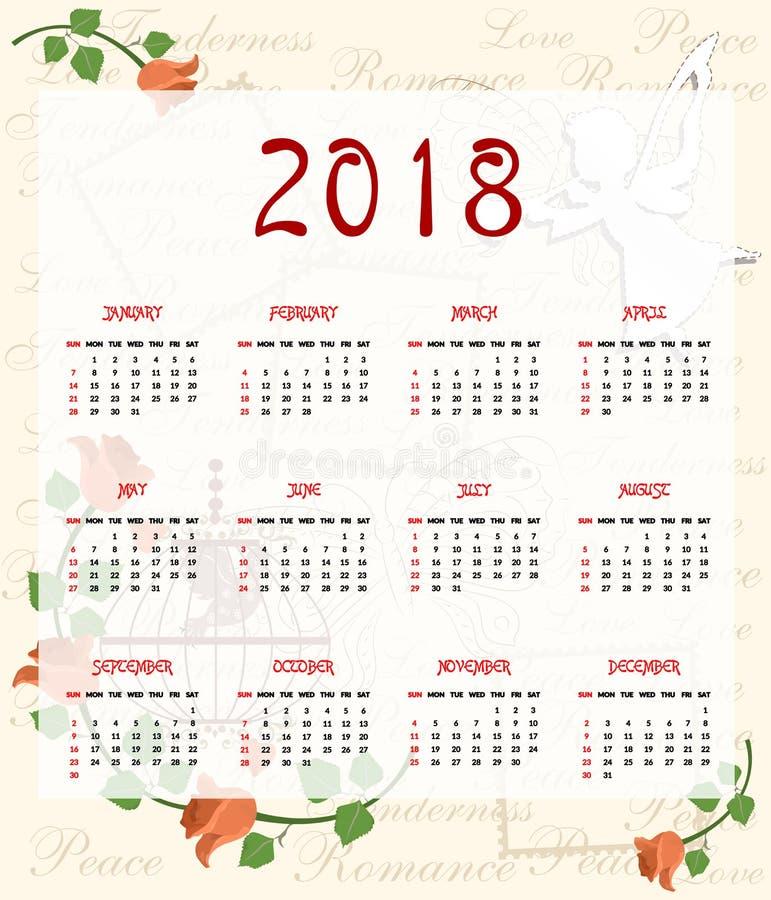 De engelenkalender royalty-vrije illustratie
