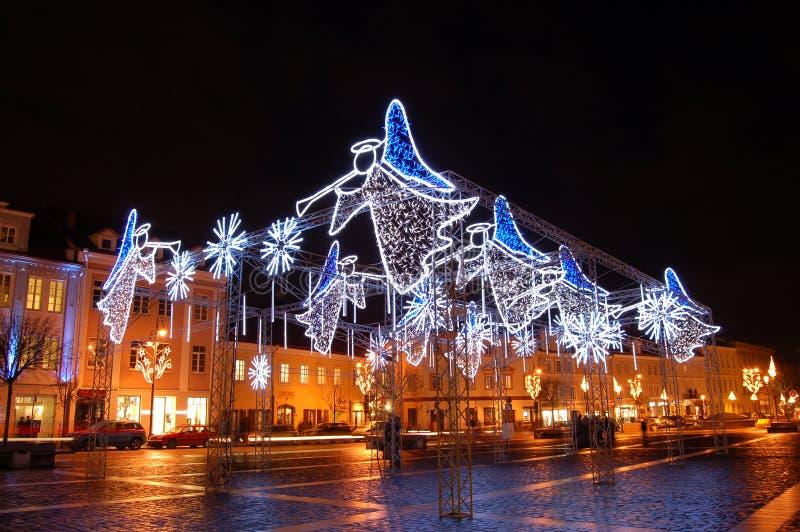De engelenvierkant van Kerstmis stock foto's