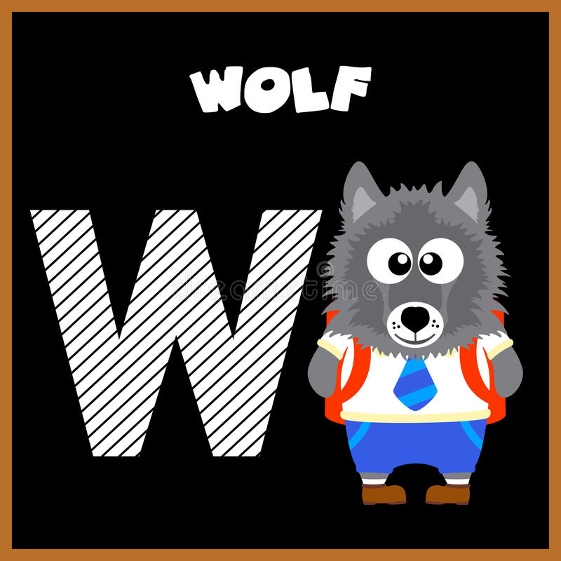 Download De Engelse alfabetbrief W vector illustratie. Illustratie bestaande uit illustratie - 54084891