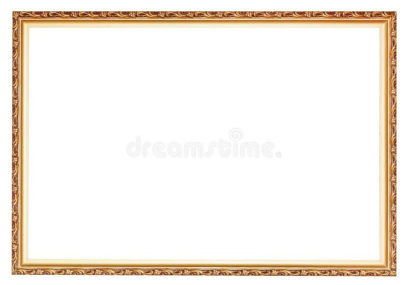 De engte sneed oude gouden houten omlijsting stock fotografie