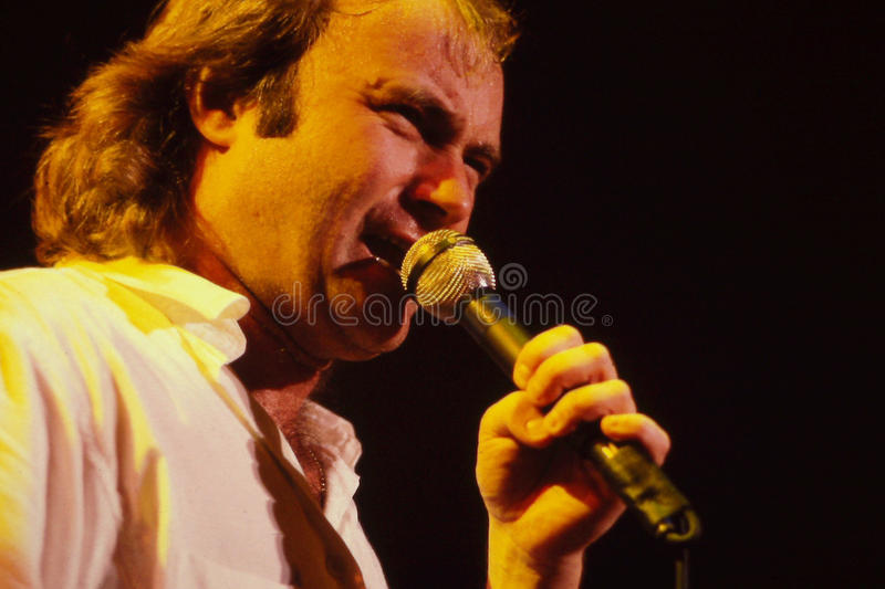 De Entertainer Van Phil Collins Redactionele Stock Foto