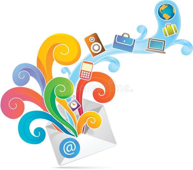 De envelop van de elektronische handel vector illustratie