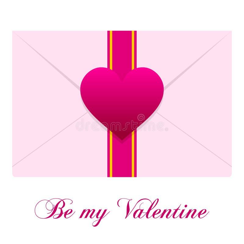 De Envelop Van De Liefde Stock Afbeelding