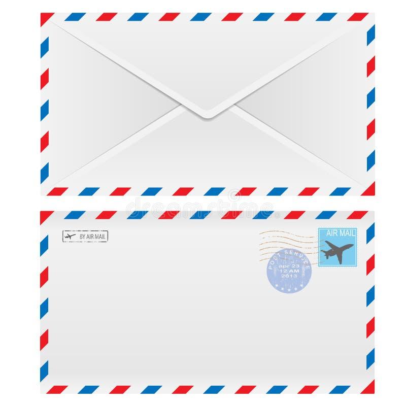 De envelop van de luchtpost vector illustratie