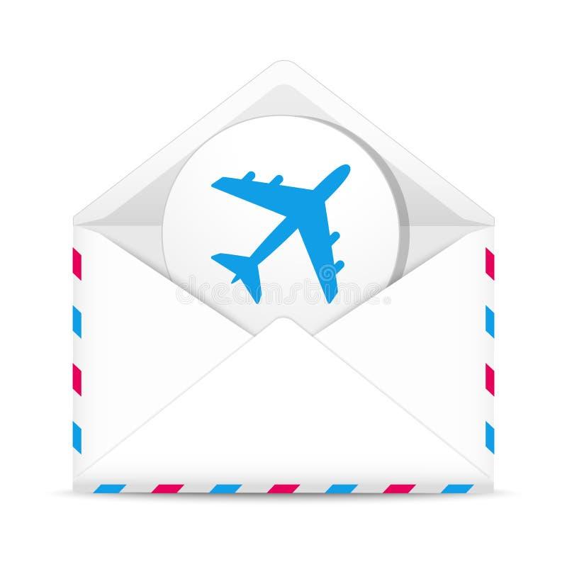 De envelop van de luchtpost royalty-vrije illustratie