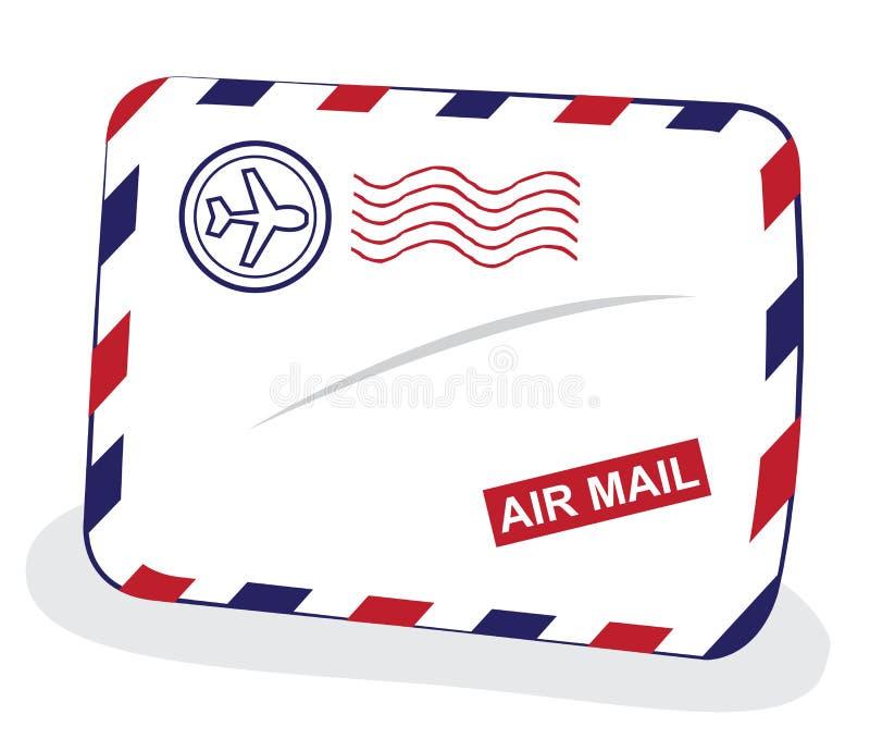 de envelop van de luchtpost retro ontwerp vector illustratie