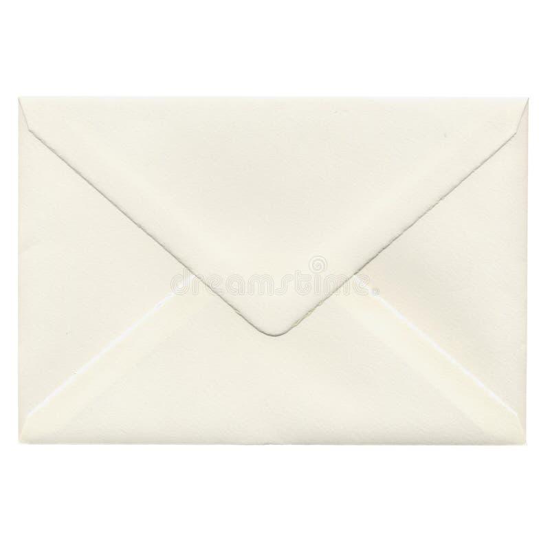 de envelop van de postbrief over wit wordt geïsoleerd dat stock foto