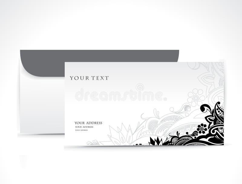 De envelop van het document stock illustratie