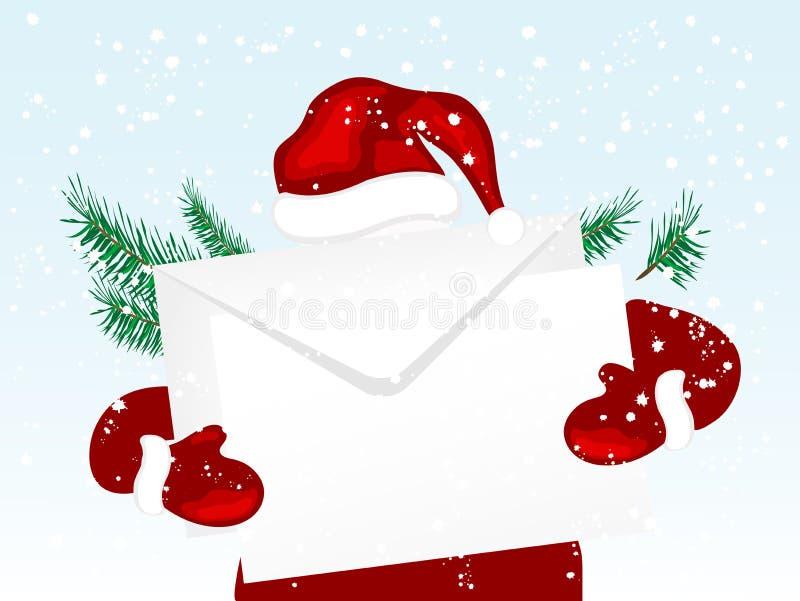 De envelop van Kerstmis royalty-vrije stock fotografie