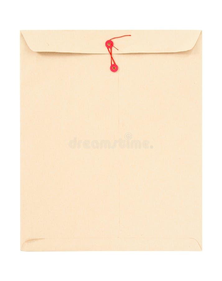 De envelop van Manilla met koord royalty-vrije stock foto