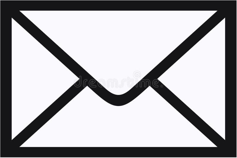 De envelopconcept van de post royalty-vrije illustratie