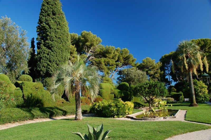 de ephrussi trädgårds- rotschildvilla royaltyfri foto