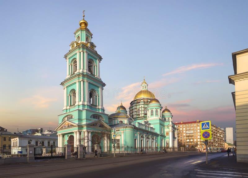 De Epiphany-Kathedraal in Yelokhovo Moskou, Rusland royalty-vrije stock fotografie