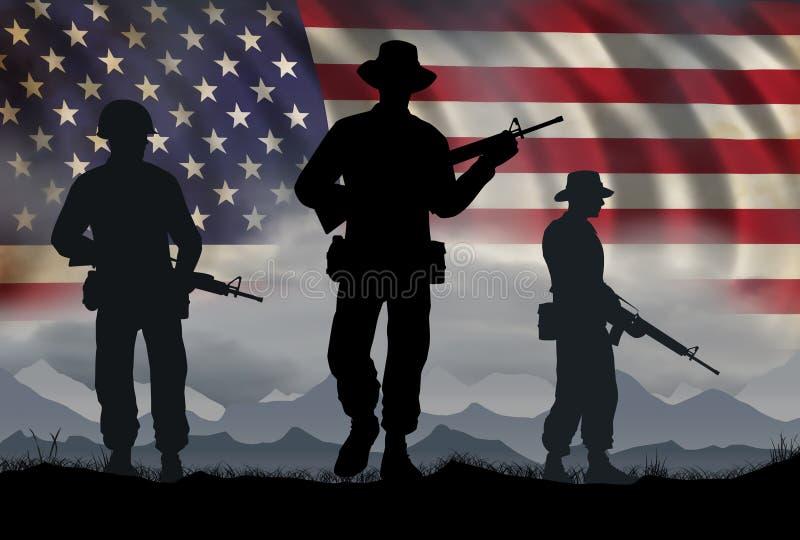 De Era van de Militairenvietnam van de V.S. stock illustratie