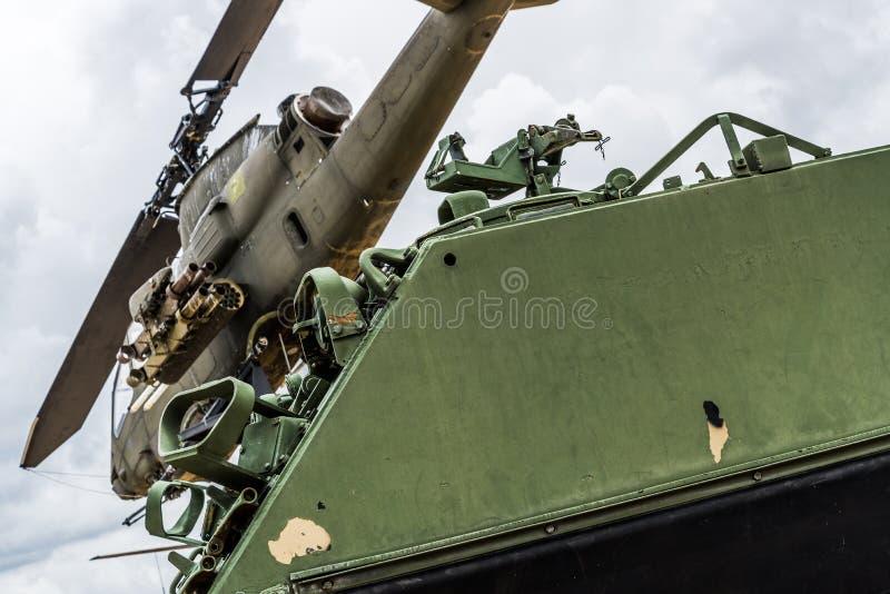 De era van Vietnam van de Apachehelikopter stock foto