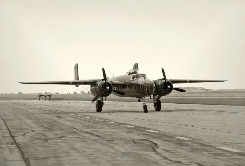 De erabommenwerpers van de Wereldoorlog II royalty-vrije stock afbeeldingen