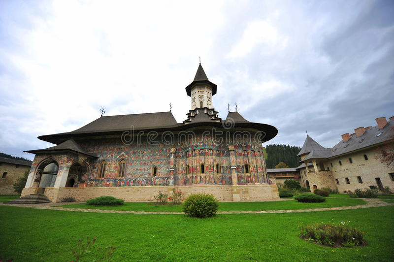 De erfenis van Unesco - Kloosters van Moldavië: Sucevita stock afbeeldingen