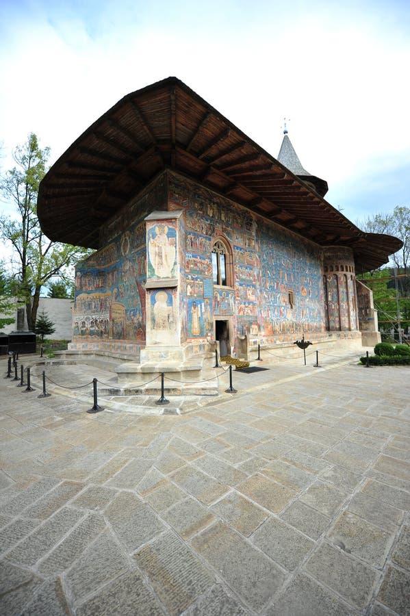 De erfenis van Unesco - Moldavisch klooster van Voronet royalty-vrije stock afbeelding