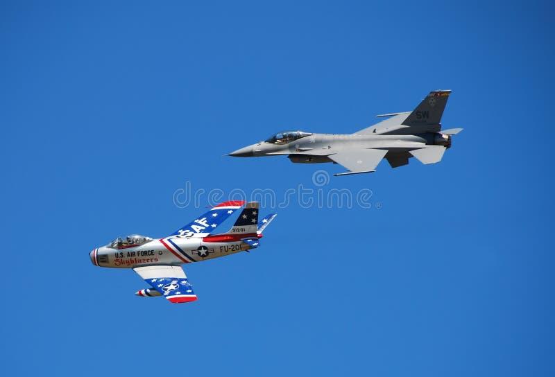 De erfenisvlucht van Airshow royalty-vrije stock afbeelding