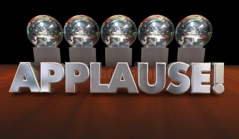 De Erkenning Groot Job Awards van de applausroem stock illustratie
