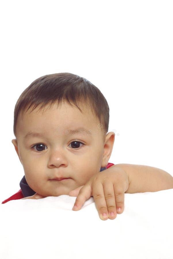 De ernstige Jongen van de Baby stock foto's