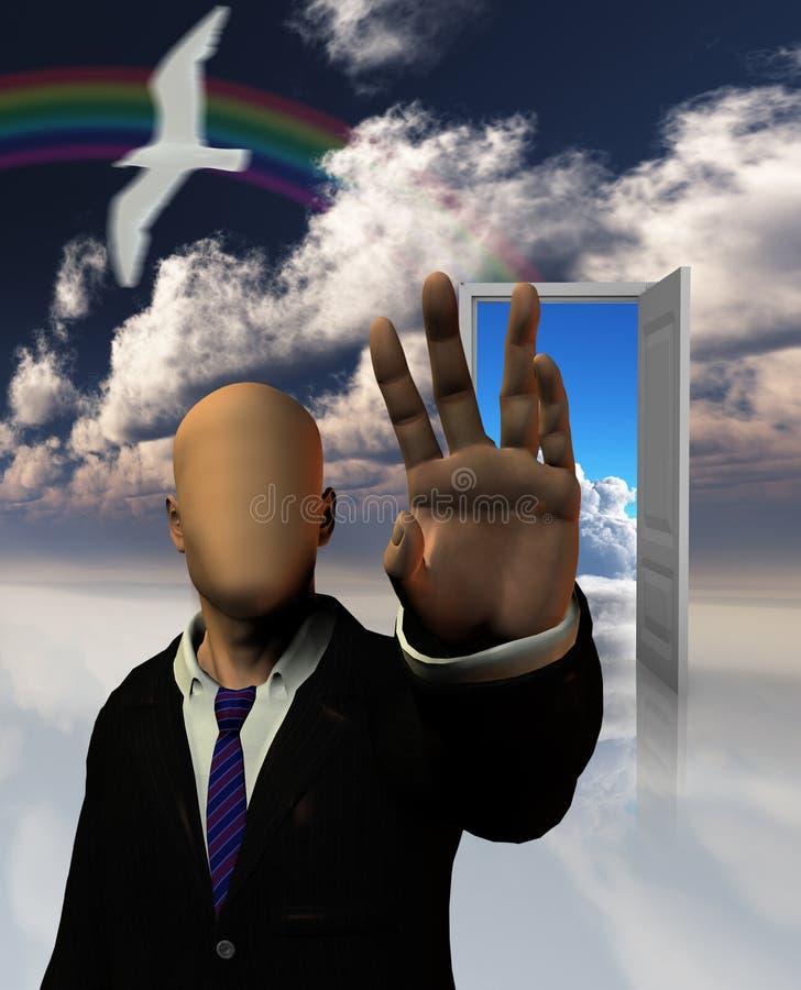 De escapisten dromen vector illustratie