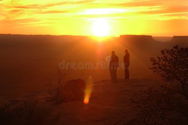 De Escapisten van de woestijn stock afbeelding