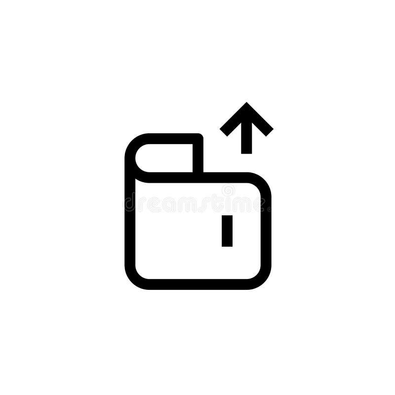 De escritório da despesa do dinheiro carteira do projeto do ícone para fora com símbolo ascendente da seta linha limpa simples co ilustração royalty free