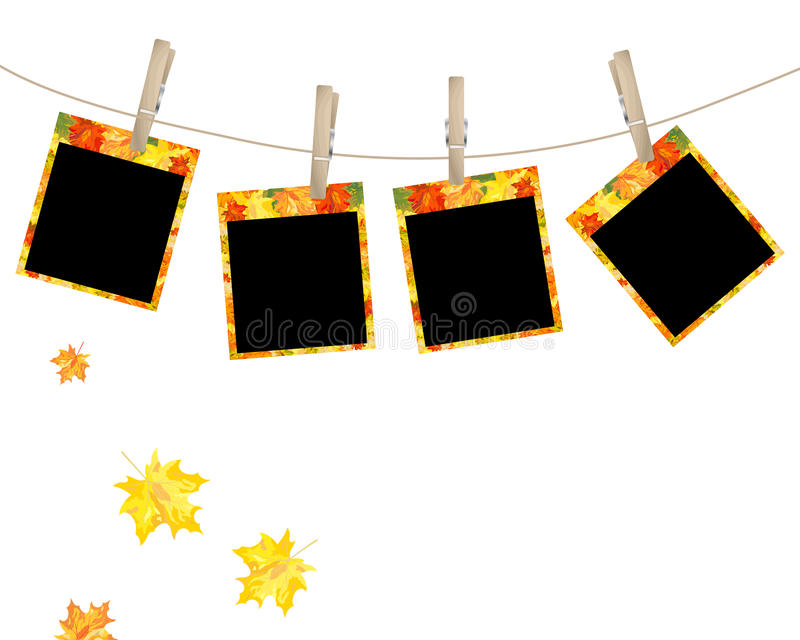 De esdoornfoto van de herfst stock illustratie