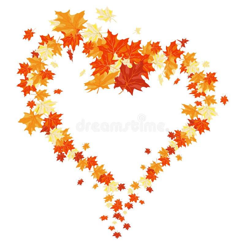 De esdoorns van de herfst vector illustratie