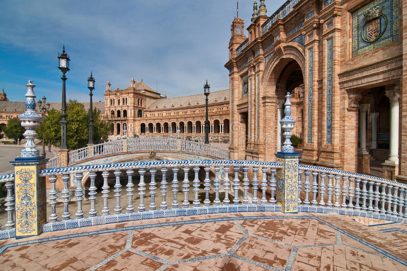 de espa广场 塞维利亚西班牙 免版税库存图片