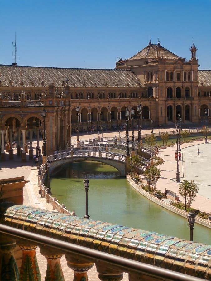 de espana plaza sevilla στοκ φωτογραφία με δικαίωμα ελεύθερης χρήσης