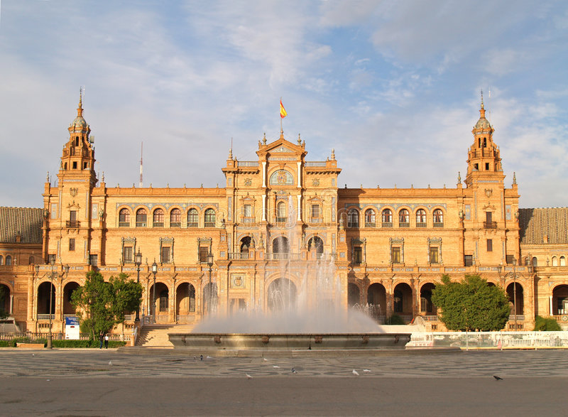 de espana plaza seville royaltyfria bilder
