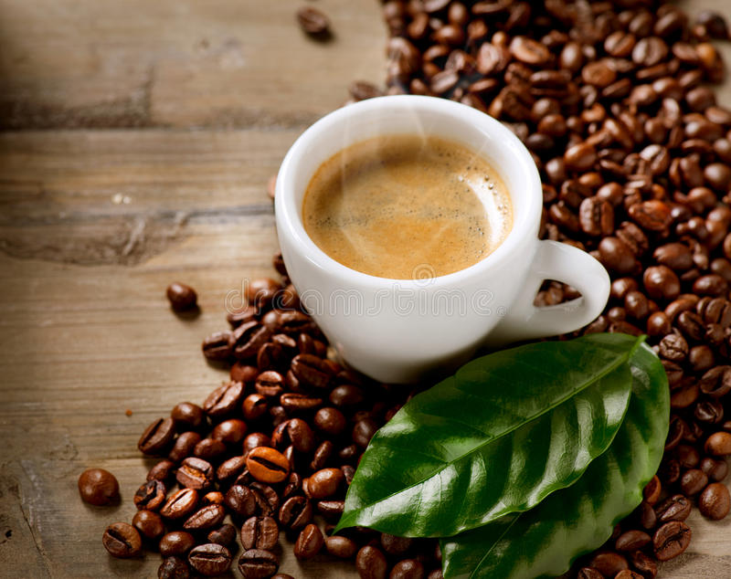 De Espresso van de koffie stock afbeelding