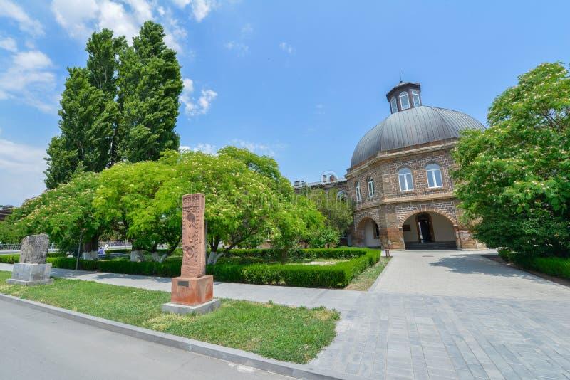 De Etchmiadzinkathedraal is de moederkerk van de Armeense Apostolische Kerk stock afbeelding