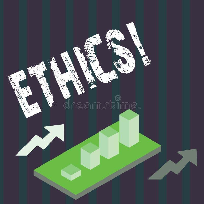 De Ethiek van de handschrifttekst Concept die Handhavend gelijkheidsevenwicht die onder andere morele principes hebben betekenen vector illustratie
